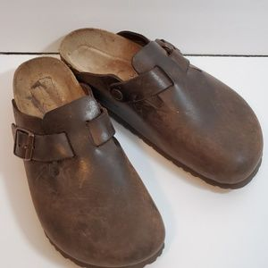 Brown Birkenstock Boston Clog